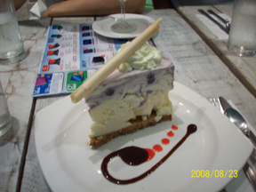 Five Cows blueberry cheese ice cream cake (Php150)