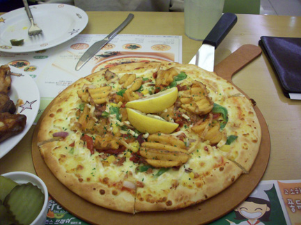 Brunch was Pizza Hut Korean style pizza