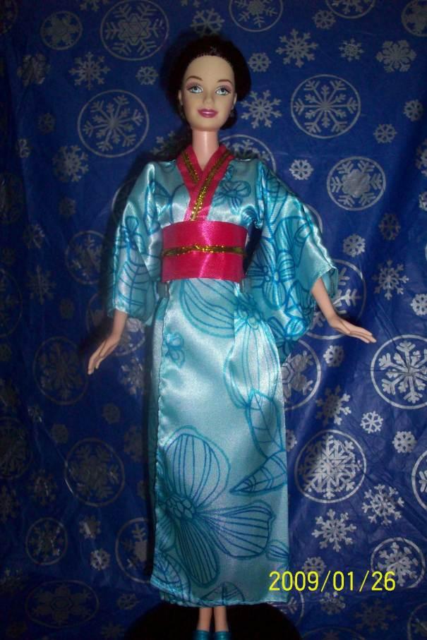 Barbie in a kimono