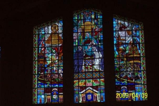Stained glass window, Sto. Domingo Church