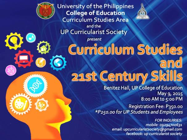 Curriculum Studies Symposium 2015 event poster from UP Curricularist Society Facebook page