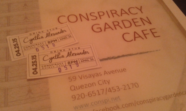 Our Cynthia Alexander at Conspiracy Cafe tickets