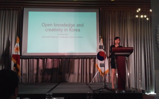 Ms. Soohyun Pae shares about Open Knowledge and Creativity in Korea.
