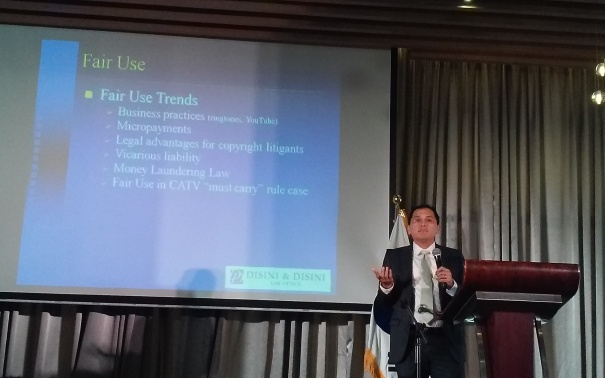 Atty. JJ Disini discusses Fair Use Trends.