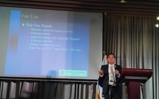 Atty. JJ Disini discusses Fair Use Trends.