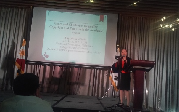 Atty. Aileen V. Sicat discusses Issues and Challenges Regarding Copyright and Fair Use in the Academic Sector.